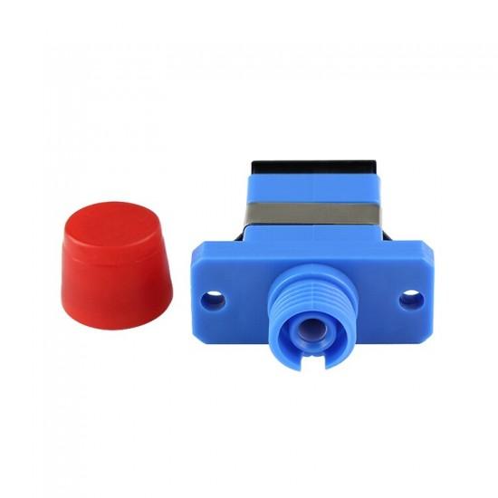 50pcs/lot FC-SC Hybrid Simplex Plastic Fiber Optic Adapter FC SC/UPC with Flange