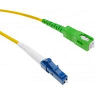 Fiber optic cable LC/PC to SC/APC mono mode is simple 9/125