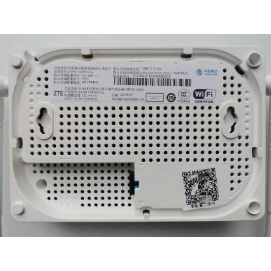 Original ZTE F663NV3A 1GE+3FE+1POTS WIFI GPON ONU ONT ac 2 antenas GPON Router