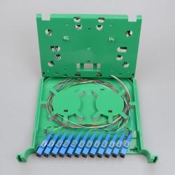 Bandeja de empalme de fibra óptica MINI 21CM SC 12 Core FTTH Fusion APC ODF Distribución de gabinetes de fábrica al por mayor