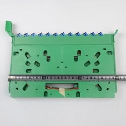 Bandeja de empalme de fibra óptica SC 24 núcleos FTTH Bandeja de fusión APC CATV ODF Bandeja de distribución de gabinetes SC Pigtail fábrica al por mayor