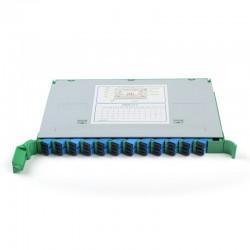 Fiber Optic Splice Tray SC 24 Core FTTH Fusion Tray APC CATV ODF Cabinet Distribution Tray SC Pigtail factory wholesale