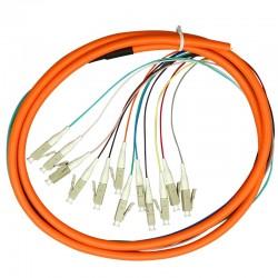 12 코드 1.5 미터 LC UPC OM1 멀티 모드 62.5 / 125 번들 광섬유 파이버 피그테일