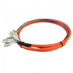 12 Cords 1.5 Meter LC UPC OM1 Multi Mode 62.5/125 Bundles Optical Fiber Optic Pigtail