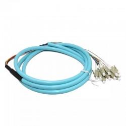 12 fibras Pigtail LC /UPC 50/125 Multimodo OM3 Bunch 12 núcleo fibra óptica pigtail - 0.9mm PVC Chaqueta