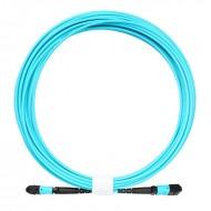 3M MPO-MPO 12 Core Fiber Optic Patch Cord 10GB 50/125 OM3 Multimode Fiber Optic Cable