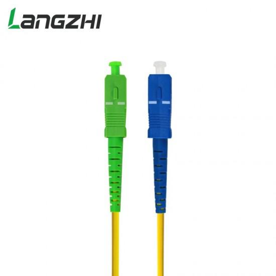 SC APC to SC UPC Simplex  3.0mm PVC  Single Mode Fiber Patch Cable Jumper Fiber Patch Cord Fibra Optica