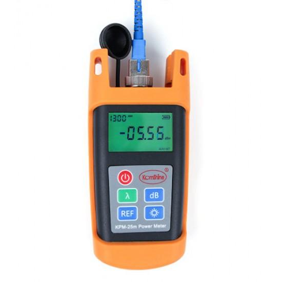 Testador handheld ótico da ferramenta de teste KPM-25M opm da fibra do medidor de potência de fibra ótica ftth com conector do sc-70 db+ 10 dbm
