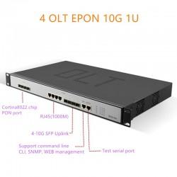 EPON OLT 1.25G uplink 10G 4port  E04 1U EPON OLT 4 Port For Triple-Play olt epon 4 pon 1.25G SFP port PX20+ PX20++ PX20+++