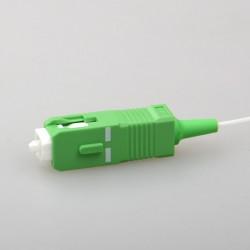 Bộ chia PLC quang học màu xanh lá cây SC APC 1:16 mini loại ống thép 1x16 0.9 mm quang splitter CATV