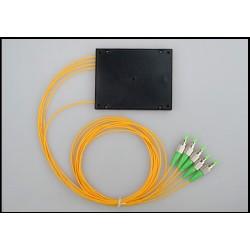 Divisor de fibra óptica 1:4 FC APC Cassette PLC 1x4 divisor óptico 1x4 CAJA ABS CATV FTTH