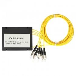 FC/ UPC 1x4 PLC Fiber optical splitter single mode with FC/UPC connector PLC ABS optic splitter box