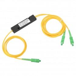 SC APC 1X2 PLC Singlemode Fiber Optical Splitter SC/APC Optical Fiber Optical Pigtail para CATV FTTH FOS