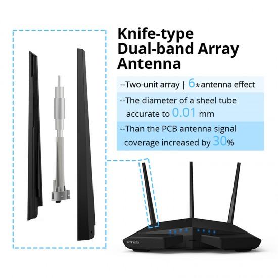 Tenda AC18 Draadloze Wifi Router AC1900Mbps 256MB DDR3 Dual Band 1 WAN + 4 LAN Gigabit poorten 802.11AC USB 3.0 IPV6 VPN PPTP L2TP