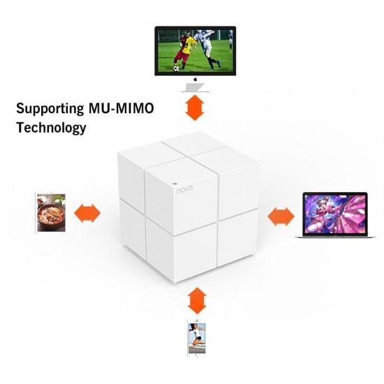 Tenda Nova MW6 WiFi Draadloze Router Hele Huis Mesh Gigabit WiFi Systeem met 11AC 2.4G/5.0GHz WIFI repeater, APP Remote Beheren