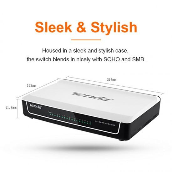 Tenda S16 16 Poorten 10/100 M Network Switchs 3.2 Gbps Switching Capaciteit snelle schakelaar