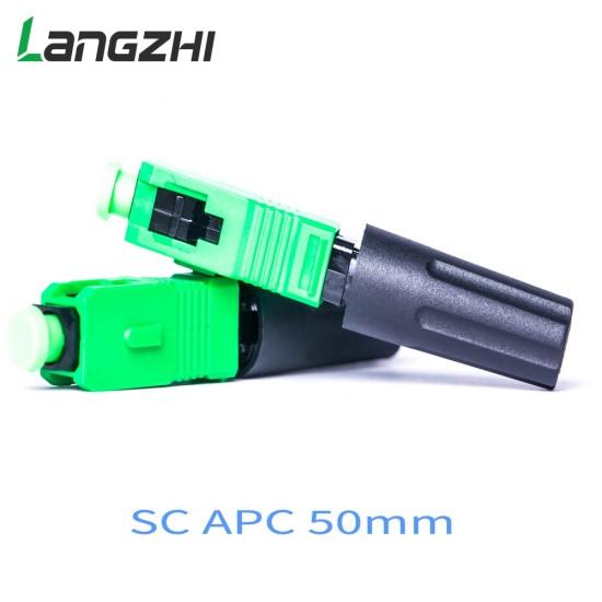 SC Apc 50mm Zf Ftth Fiber Optic SC Connector SC/APC Optical Fiber Connector Sc-apc Fast Connector